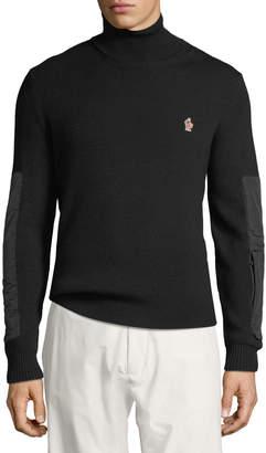 Moncler Men's Biker Knit Turtleneck Sweater