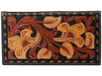 M&F Western 3-Tone Laced Edge Rodeo Wallet