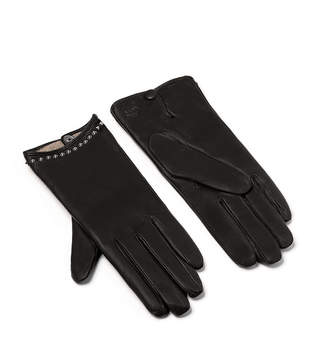 MCM Women's Studded Leather Gloves