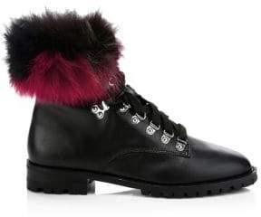 Rebecca Minkoff Jaylin Leather& Fur Hiking Boots