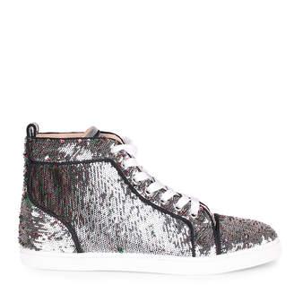 Christian Louboutin Bip Bip silver sequin sneaker