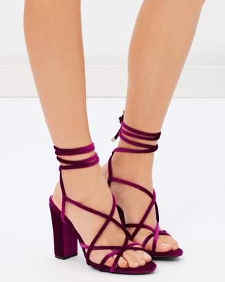 Missguided Multi Strap Block Heel Sandals