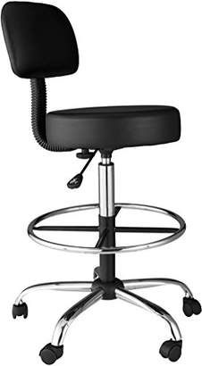 OneSpace Medical/Drafting Stool with Back Cushion