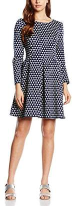 Closet Women's Triangle Skater Aztec Long Sleeve Dress