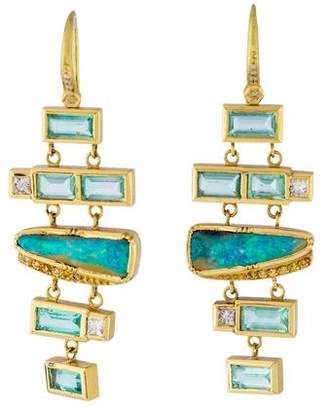 Brooke Gregson 18K Multistone Drop Earrings
