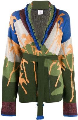 Stella Jean intarsia knit cardigan