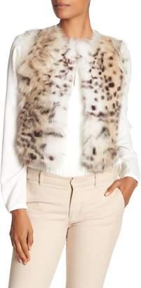Elie Tahari Terrence Genuine Dyed Fox Fur & Wool Vest