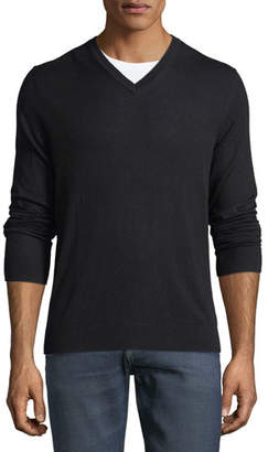 Burberry Randolf Cashmere-Cotton Sweater, Black
