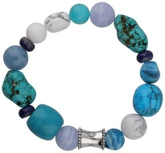 "Elyse Ryan Sterling Blues Gemstone ""Wrist Rocks"" Bracelet"