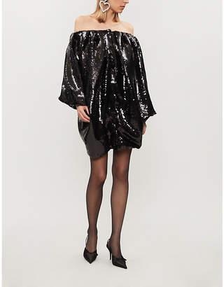HALPERN Sequinned bubble dress