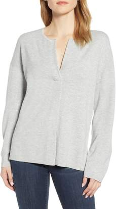 Lou & Grey Split Neck Sweater