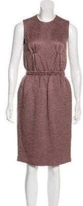 Bottega Veneta Textured Midi Dress Aubergine Textured Midi Dress