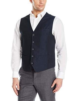 Perry Ellis Men's Linen Suit Vest