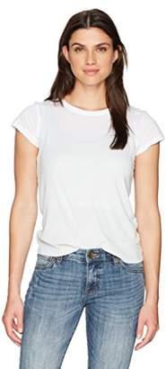 Monrow Women's White Shirt with Rib Tank