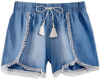 Jessica Simpson Trim and Tassel Chambray Shorts, Big Girls (7-16) $29.50 thestylecure.com