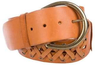 Linea Pelle Whipstitch Leather Belt