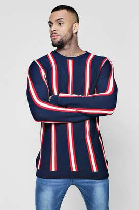 boohoo Vertical Stripe Knitted Jumper