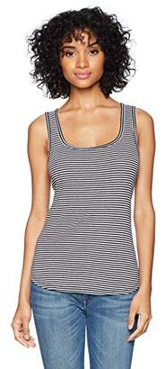 Three Dots Women's Montauk Stripe midi Tight Tank
