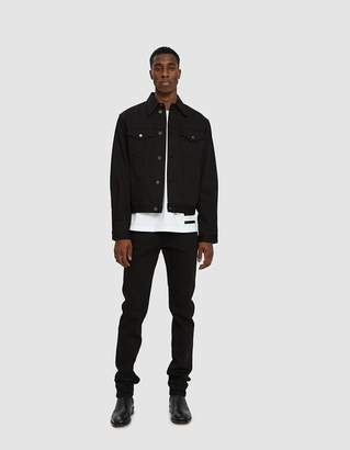 Calvin Klein Jeans Est. 1978 Trucker Jacket in Black Rinse