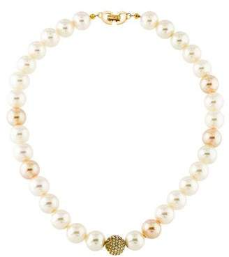 Christian Dior Faux Pearl & Crystal Necklace