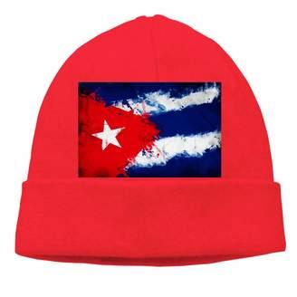 0b75b89ea9262 VAbBUQBWUQ Cuba Cuban Art Cable Knit Skull Caps Thick Soft   Warm Winter  Beanie Hats for