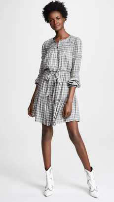 Rebecca Taylor Long Sleeve Plaid Dress