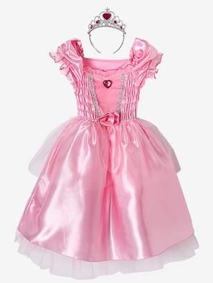 Princess Costume - pink medium solid with desig