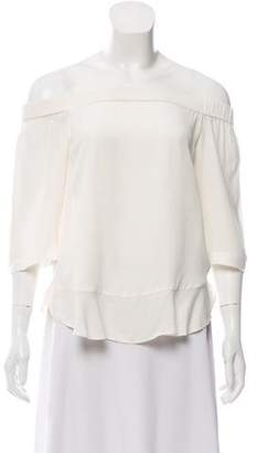 Rebecca Taylor Off-The-Shoulder Short Sleeve Top w/ Tags