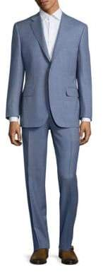Canali Solid Wool Two-Button Suit