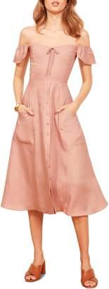 Reformation Francis Prairie A-Line Dress
