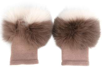 Agnona fluffy gloves