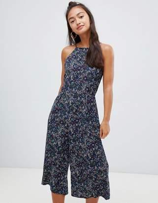 Glamorous floral culotte jumpsuit