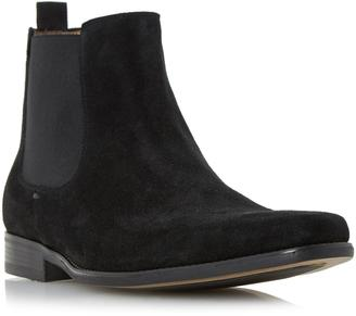 Dune Mens Marky Square Toe Suede Chelsea Boot