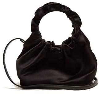 The Row Double Circe Small Satin Bag - Womens - Black