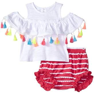 Mud Pie Tassel Pinafore and Bloomer Two-Piece Set Girl's Suits Sets