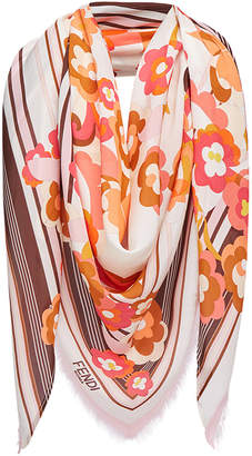 Fendi floral shawl scarf