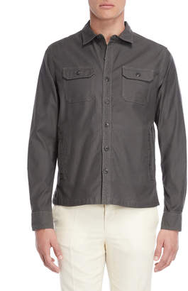 Michael Bastian Slate Stretch Shirt Jacket