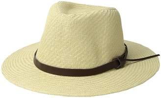 San Diego Hat Company Cut Sew Paper Fedora w/ Faux Leather Band Caps