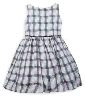 Little Girl's Plaid Crepe Dress