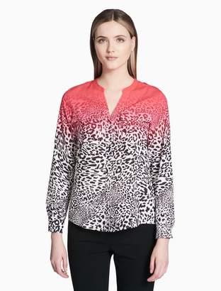 Calvin Klein printed roll sleeve top
