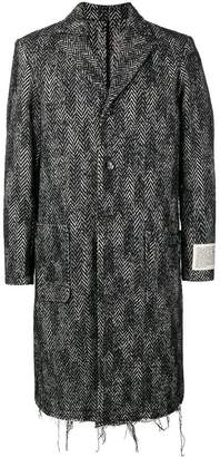 Diesel chevron single-breasted coat