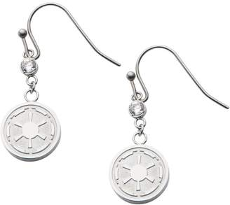Star Wars Stainless Steel Galactic Empire Dangle Earrings