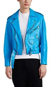Enfants Riches Deprimes MEN'S PAINTED LEATHER CROP MOTO JACKET