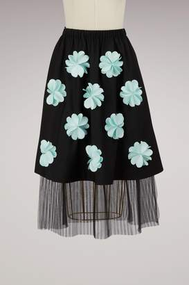 Wool flowers skirt