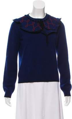 Roksanda Wool & Cashmere Blend Embroidered Sweater