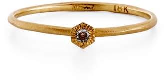 Satomi Kawakita Gold Sunburst Diamond Ring