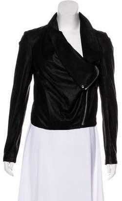 Helmut Lang Zip-Up Leather Jacket