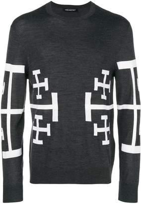 Neil Barrett Cross print jumper