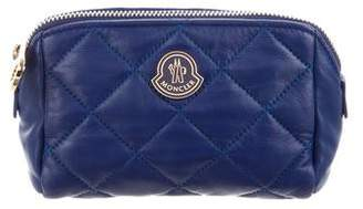 Moncler Quilted Leather Cosmetic Bag