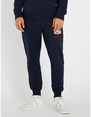 Evisu Buddha-embroidered cotton-jersey jogging bottoms